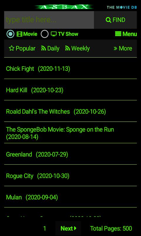 Movies finder similar Top 10
