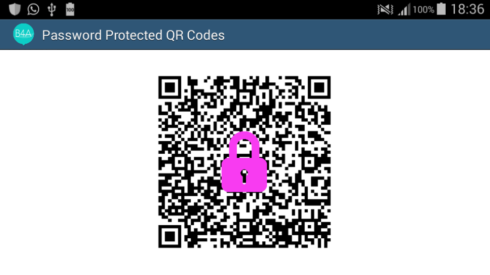 Android Example - Password Protected QR Codes - Creating and