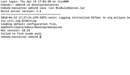 iOS Question - Failed to find xcode path | B4X Community - Android