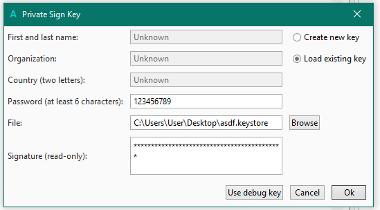Android Question - private key error while compiling | B4X Community