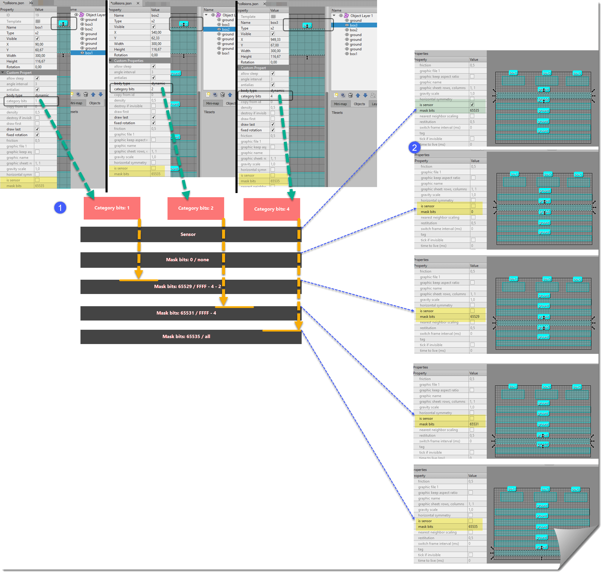 Games - Some notes to better understand the XUI2D examples