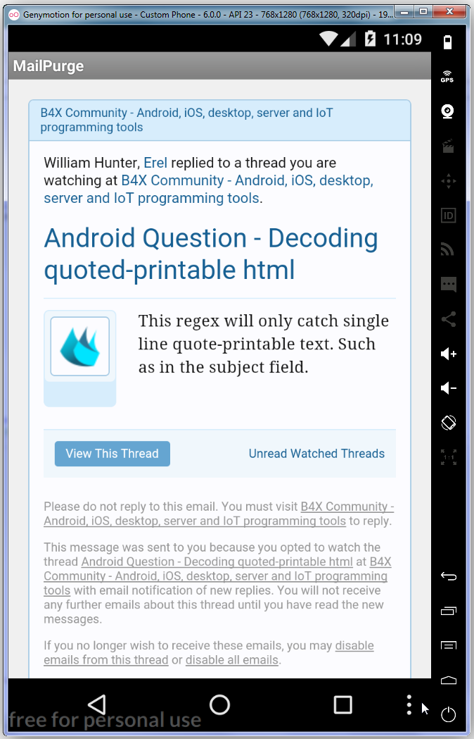 photograph relating to Quoted Printable Decoding called Android Wonder - Interpreting quoted-printable html B4X