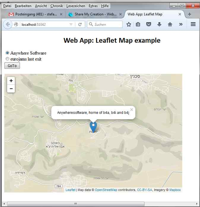 Share My Creation - Web App: Leaflet Map example | B4X ... on business creation, data creation, galaxy creation,