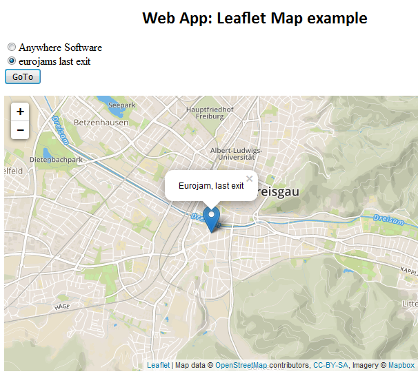 Share My Creation - Web App: Leaflet Map example | B4X