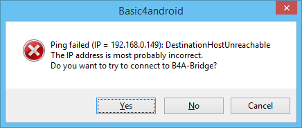 Bug? - B4A-Bridge Connection Issue | B4X Community - Android