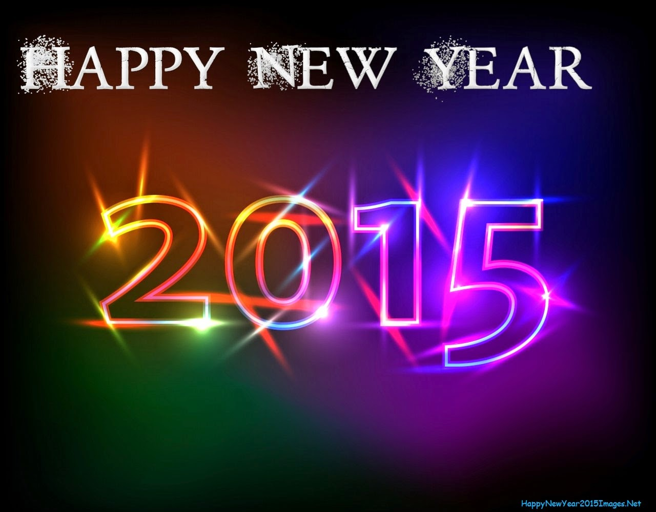 Happy New Year 2015 Hot Colors On Black Backgrounds.jpg