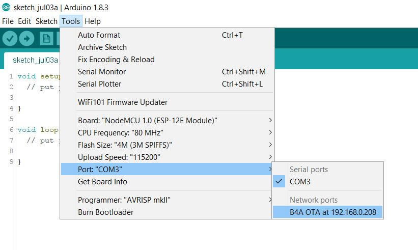 Wish - Add OTA update networking, that would be nice | B4X