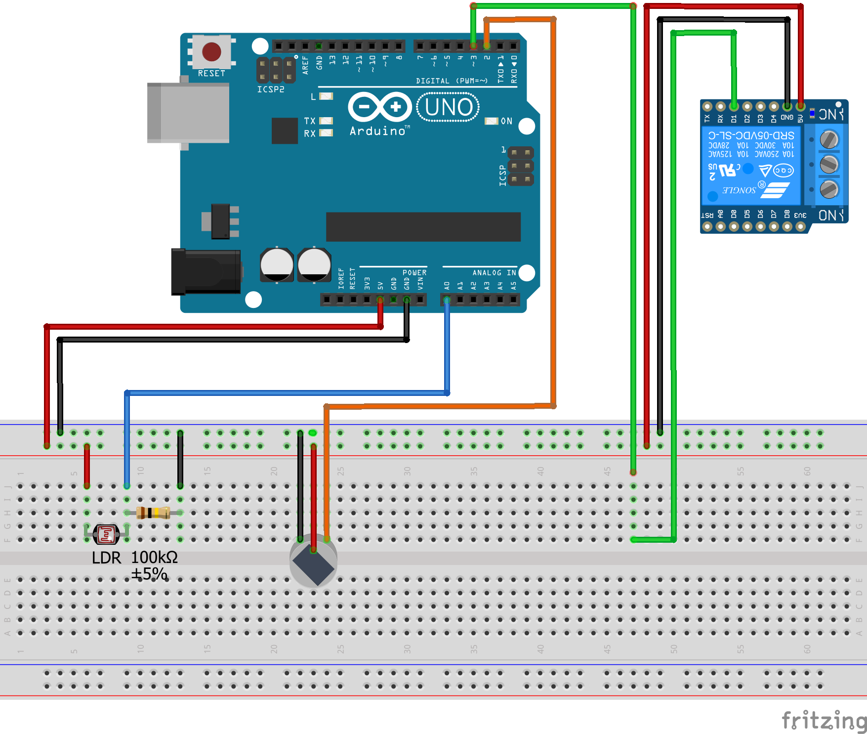 B4r Code Snippet Switch A Relay To On Nc When It Gets Dark Via Circuit Diagram Ldr Pir Bb