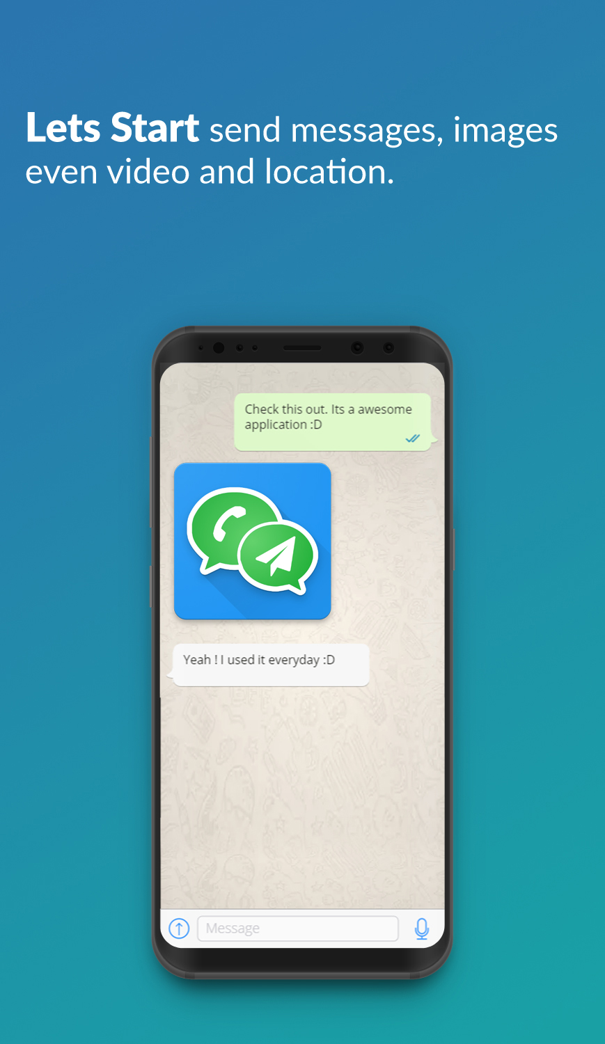 Share My Creation - Whatsapp Quick Message Without Add Contacts