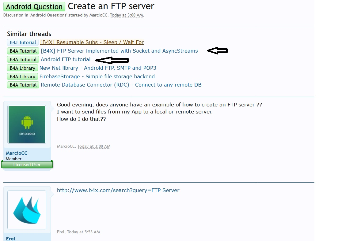 Android Question - Create an FTP server | B4X Community