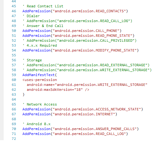 Android Question - EndCall routine does not work on Android 8 x