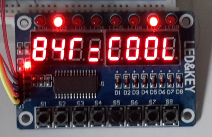B4R Library - rTM1638 - 8 Seven Segment LED Display with Keys And