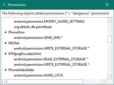 Android Question - Critical Permissions - android permission