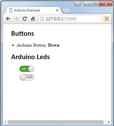 Arduino websocket example