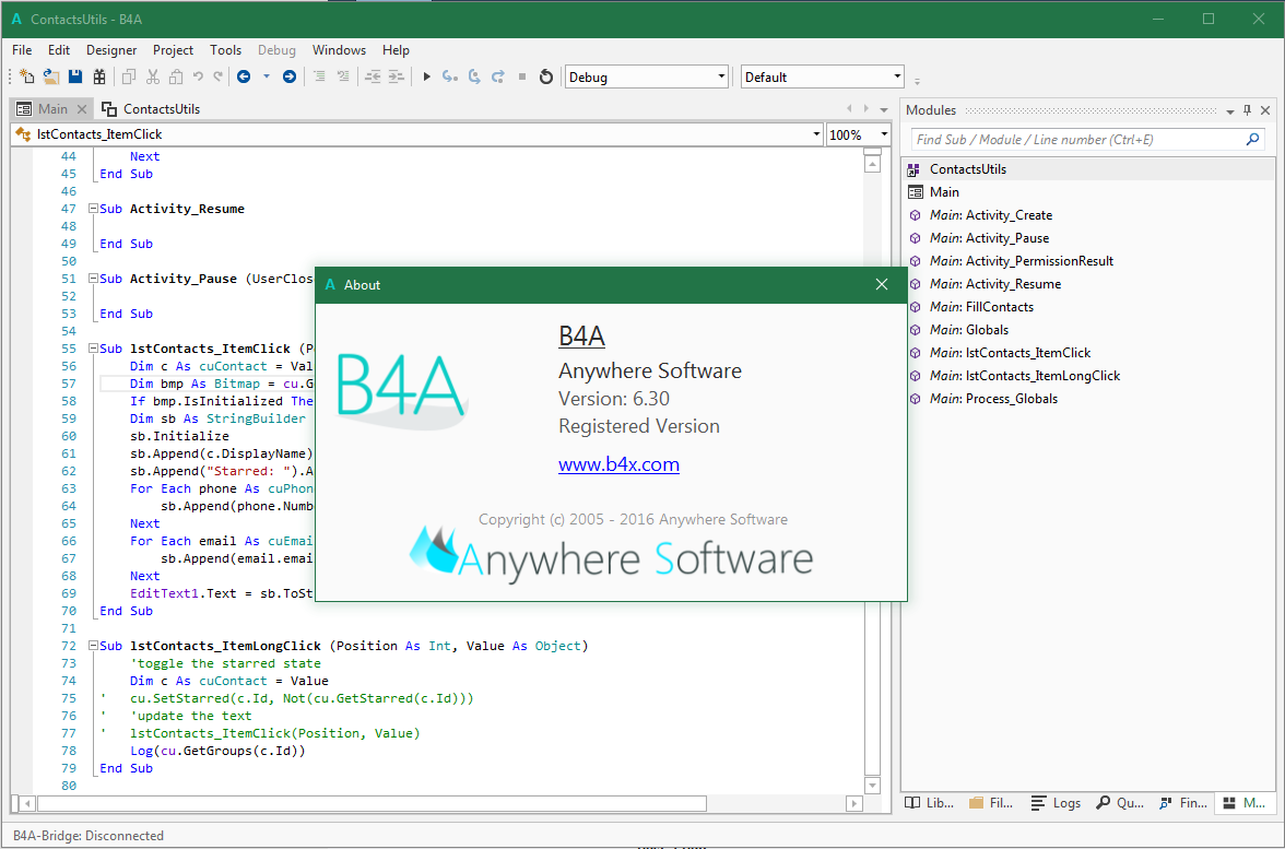 Other - B4A v6 30 has been released! | B4X Community