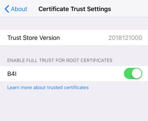 iOS Question - B4i-Error on Bridge installation on device